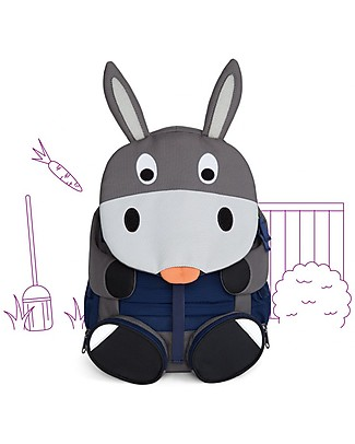 Affenzahn Kids Backpack Don Donkey 3-5 years - Perfect for Preschool and eco-friendly! Small Backpacks