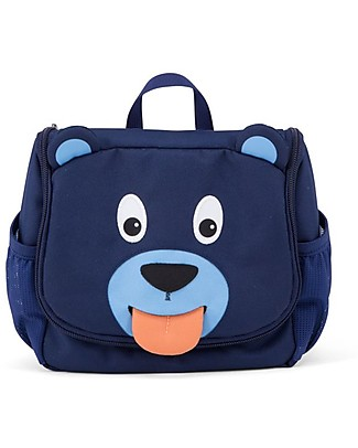 Affenzahn Kids Toiletry Bag, Bobo Bear - Useful and funny! Makeup Bags & Pouches