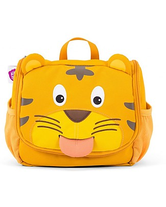 Affenzahn Kids Toiletry Bag, Timmy Tiger - Useful and funny! Makeup Bags & Pouches