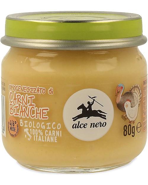 Alce Nero Homogenised of Organic Chicken, Turkey and Vegetables - 100% Italian meat Baby Food