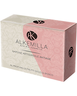 Alkemilla Organic Anti-Age Soap With Sweet Berry Perfume - 100 gr Detergents