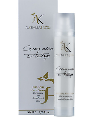 Alkemilla Organic Antiaging Face Cream, for Mature and Devitalized Skins - 50 ml Body Lotions And Oils