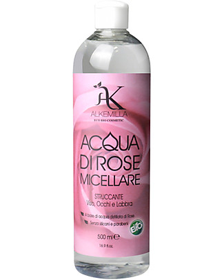 Alkemilla Organic Micellar Lotion Based on Rosawater from Damask Rose - 500 ml Face