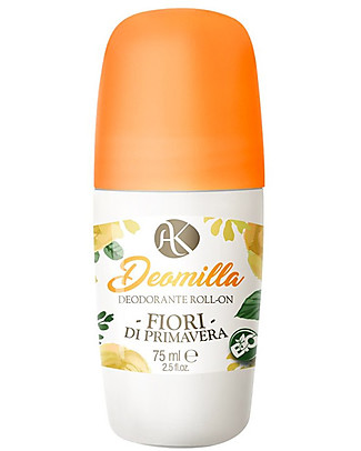 Alkemilla Organic Roll-on Deodorant Spring Flowers, Deomilla - 75 ml Deodorant