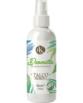 Alkemilla Organic Spray Deodorant Floral Talc, Deomilla - 100 ml Deodorant