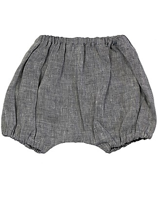 ANG un bebé Bloomer Shorts Giovanni, Blue - 100% Linen Shorts