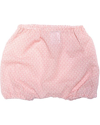 ANG un bebé Bloomer Shorts Giovanni, Pink Flowers - 100% cotton Shorts