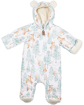 Annaliv Little Grow Padded and Warm, Bear + Elk - 100% organic cotton lining Snowsuits