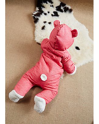 Annaliv Little Grow Padded and Warm, Berry Red - 100% organic cotton lining Snowsuits