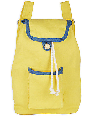 Annaliv Pure Natural Cotton Kids Backpack, Yellow & Blue - 1+ years! Messenger Bags