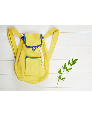 Annaliv Pure Natural Cotton Kids Backpack, Yellow/Blue – 1+ years! Messenger Bags