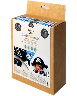 aPunt Barcelona Pirate Sewing Kit - Create a pirate hat and eye mask! Art & Craft Kits