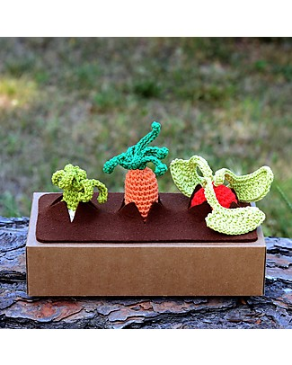 aPunt Barcelona Set My First Vegetable Garden - Funny and Beautiful! Crochet Soft Toys