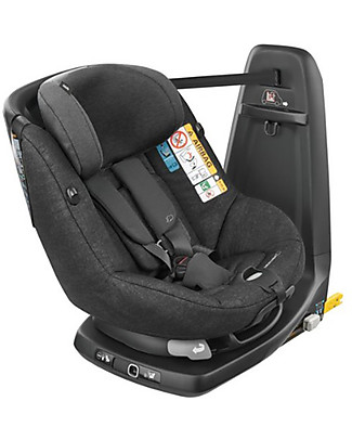 Bébé Confort/Maxi Cosi AssixFix Car Seat, Nomad Black - from 4 months to 4 years, 360° Swiveling Seat Car Seats