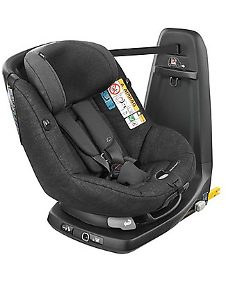 Bébé Confort/Maxi Cosi AssixFix Car Seat, Nomad Black - from 4 months to 4 years, 360° Swiveling Seat Toddler Car Seats