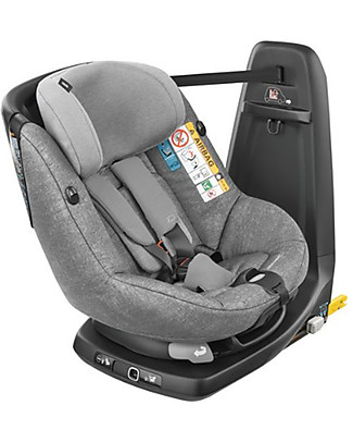 Bébé Confort/Maxi Cosi AssixFix Car Seat, Nomad Grey - from 4 months to 4 years, 360° Swiveling Seat Car Seats