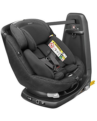 Bébé Confort/Maxi Cosi AxissFix Plus Car Seat, Nomad Black - From Birth to 4 years, 360° Swiveling Seat Car Seats