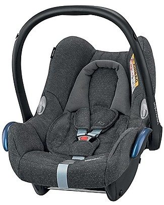 Bébé Confort/Maxi Cosi CabrioFix Car Seat 0+ i-Size, Sparkling Grey - 0-12 Months, Light and Safe Baby Car Seats