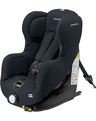 Bébé Confort/Maxi Cosi Iséox Isofix Car Seat, Total Black – from 9 months to 4 years, Flexible Installation Car Seats