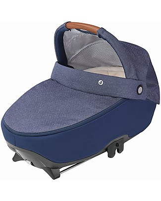 Bébé Confort/Maxi Cosi Jade Carrycot, Nomad Blue - Up to 6 months, Isofix and R129 Compliant Pram Systems