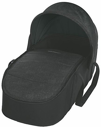 Bébé Confort/Maxi Cosi Laika Soft Carrycot for Strollers, Nomad Black - Up to 6 months, Extra Light! Pram Systems