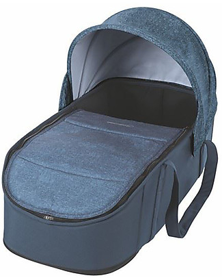 Bébé Confort/Maxi Cosi Laika Soft Carrycot for Strollers, Nomad Blue - Up to 6 months, Extra Light! Pram Systems