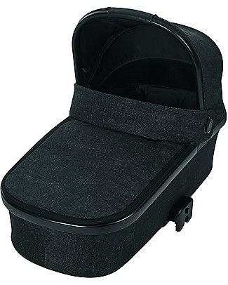 Bébé Confort/Maxi Cosi Oria Carrycot for Strollers, Nomad Black - Up to 6 months, Foldable! Pram Systems