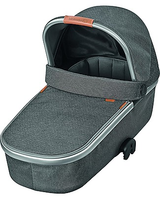 Bébé Confort/Maxi Cosi Oria Carrycot for Strollers, Sparkling Grey - Up to 6 months, Foldable! Pram Systems