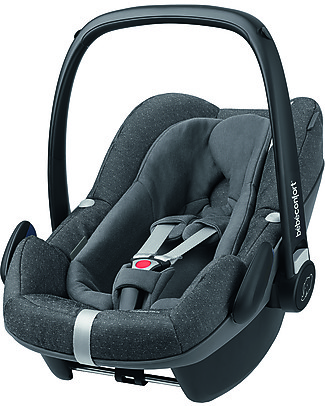 Bébé Confort/Maxi Cosi Pebble Plus Car Seat 0+ e i-Size, Sparkling Grey - 0-12 months, i-Size R129 Approved Baby Car Seats