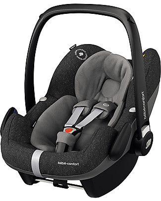 Bébé Confort/Maxi Cosi Pebble Pro i-Size Car Seat, Sparkling Grey - 0-12 months, i-Size Safety Travel Systems