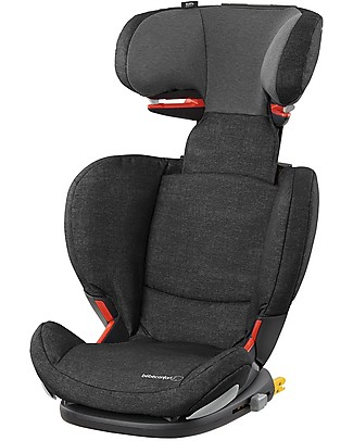Bébé Confort/Maxi Cosi RodiFix Airprotect Car Seat Group 2/3, Nomad Black - From 3.5 to 12 years, Side Protection System Child Car Seats