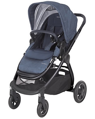 Bébé Confort/Maxi Cosi Stroller Adorra, Nomad Blue - From Birth to 3.5 years, with Huge Basket! Pushchairs