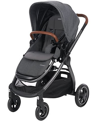 Bébé Confort/Maxi Cosi Stroller Adorra, Sparkling Grey - From Birth to 3.5 years, with Huge Basket! Travel Systems