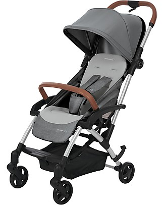 Bébé Confort/Maxi Cosi Stroller Laika2, Nomad Grey - From Birth to 3.5 years, Super-Urban Lights Strollers