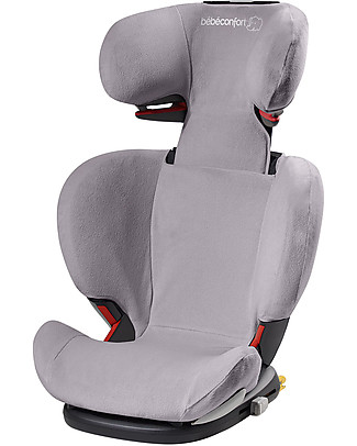 Bébé Confort/Maxi Cosi Summer Cover for RodiFix Airprotect Car Seat, Cool Grey – Terry Cotton Car Seat Accessories