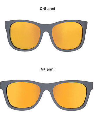 Babiators Blue Collection Sunglasses, The Islander - Grey Keyhole/Polarized Orange Lens - 100% UV Protection - 1 Years Lost & Found Guarantee Sunglasses