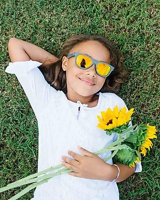 Babiators Blue Collection Sunglasses, The Islander - Grey Keyhole/Polarized Orange Lens - 100% UV Protection Sunglasses