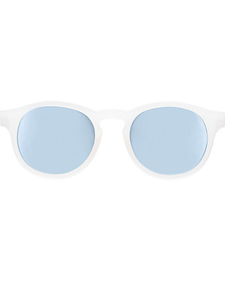 Babiators Blue Collection Sunglasses, The Jet Setter - Transparent Keyhole/Polarized Light Blue Lens - 100% UV Protection - 1 Years Lost & Found Guarantee Sunglasses