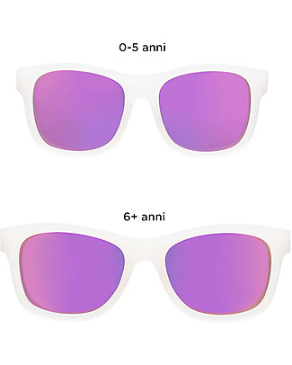 Babiators Blue Collection Sunglasses, The Trendsetter - Transparent Keyhole/Polarized Purple Lens - 100% UV Protection - 1 Years Lost & Found Guarantee Sunglasses