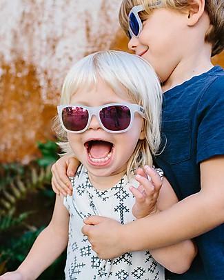 Babiators Blue Collection Sunglasses, The Trendsetter - Transparent Keyhole/Polarized Purple Lens - 100% UV Protection Sunglasses