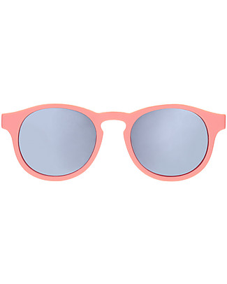 Babiators Blue Collection Sunglasses, The Weekender - Melon Keyhole/Polarized Silver Lens - 100% UV Protection Sunglasses
