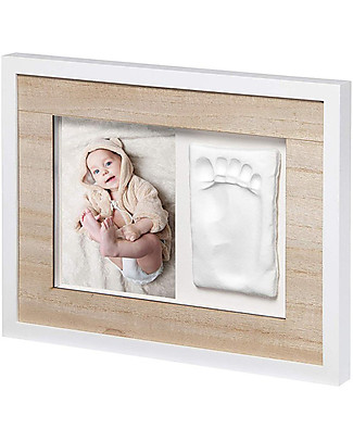 Baby Art Baby Art Wall Print Frame Tiny Style Frame - White & Wooden Room Decorations