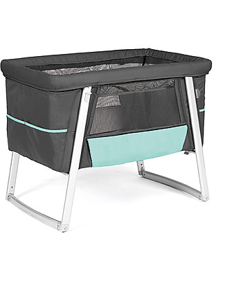 Baby Home Air Cot - Graphite - Super light, transportable  Also has wheels or can rock Cribs & Moses Baskets