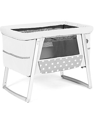 Baby Home Air Cot - White - Super light, transportable  Also has wheels or can rock Cribs & Moses Baskets