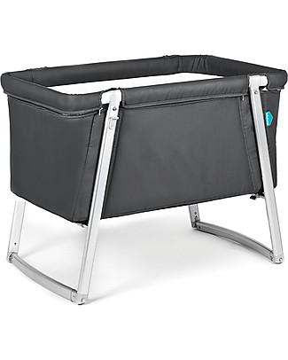 Baby Home Dream Cot – Graphite – Super light, transportable Also has wheels or can rock Cribs & Moses Baskets