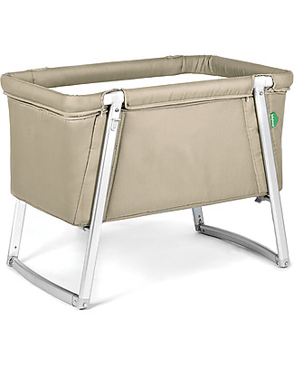 Baby Home Dream Cot – Sand – Super light, transportable Also has wheels or can rock Cribs & Moses Baskets