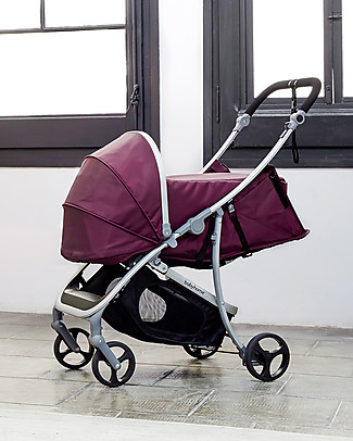 Baby Home Nest Kit for Baby Home Vida Stroller, Purple - Lets you use your stroller from birth! Pram Systems