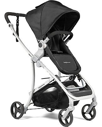 Baby Home Vida Plus Stroller + Carrycot, Black - From birth to 15 kg! Pram Systems