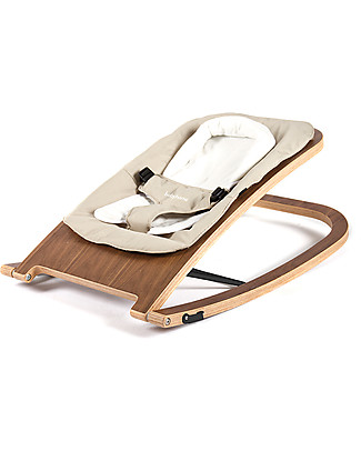 Baby Home Wave Wooden Rocker Walnut - Sand – Foldable & Light Bouncers