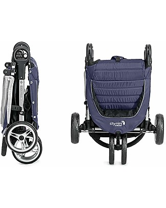 Baby Jogger City Mini™ 3 Baby Stroller - Navy Blue/Gray - Quick Fold Technology - For City Life! Lights Strollers